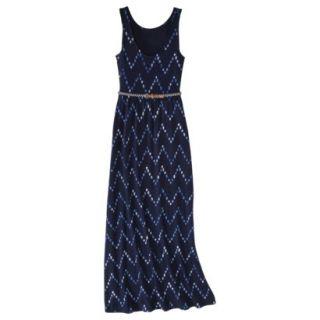 Merona Womens Maxi Dress w/Belt   Navy Chest   XL