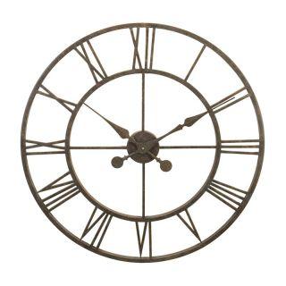 River City Clocks Indoor Antiqued Metal Skeleton Tower 30 in. Wall Clock