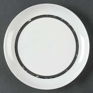 Block China Platino Salad Plate, Fine China Dinnerware   Espana Line,Black&Plati