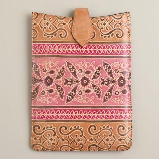 Warm Embossed Leather iPad Mini Case   World Market