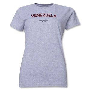 Venezuela 2013 FIFA U 17 World Cup UAE Womens T Shirt (Grey)