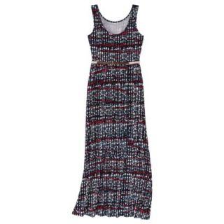 Merona Womens Maxi Dress w/Belt   Xavier Navy   XS