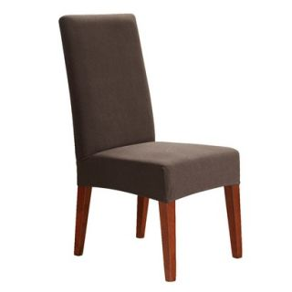 sure fit stretch honeycomb short dining room chair slipcover oar brown