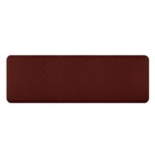 Wellness Mats Trellis Motif Mat w/ No Trip Beveled Edge & Non Slip Material, 6x2 ft, Burgundy