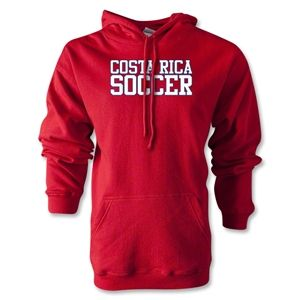 hidden Costa Rica Soccer Supporter Hoody (Red)