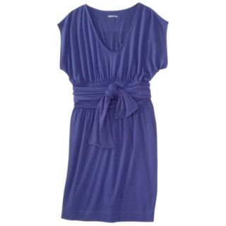 Merona Womens Shirred Dress w/Tie Back   Blue   XL